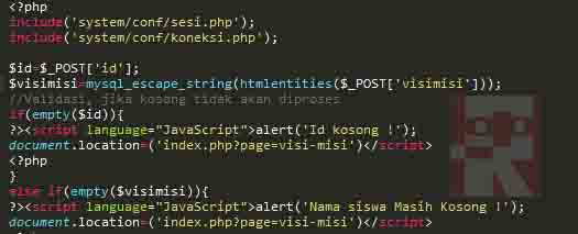 Memahami Penggunaan mysql escape string dan htmlentities