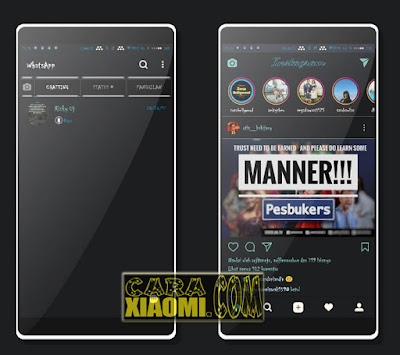 Download Tema MIUI Mtz Black Blues Mod For Xiaomi