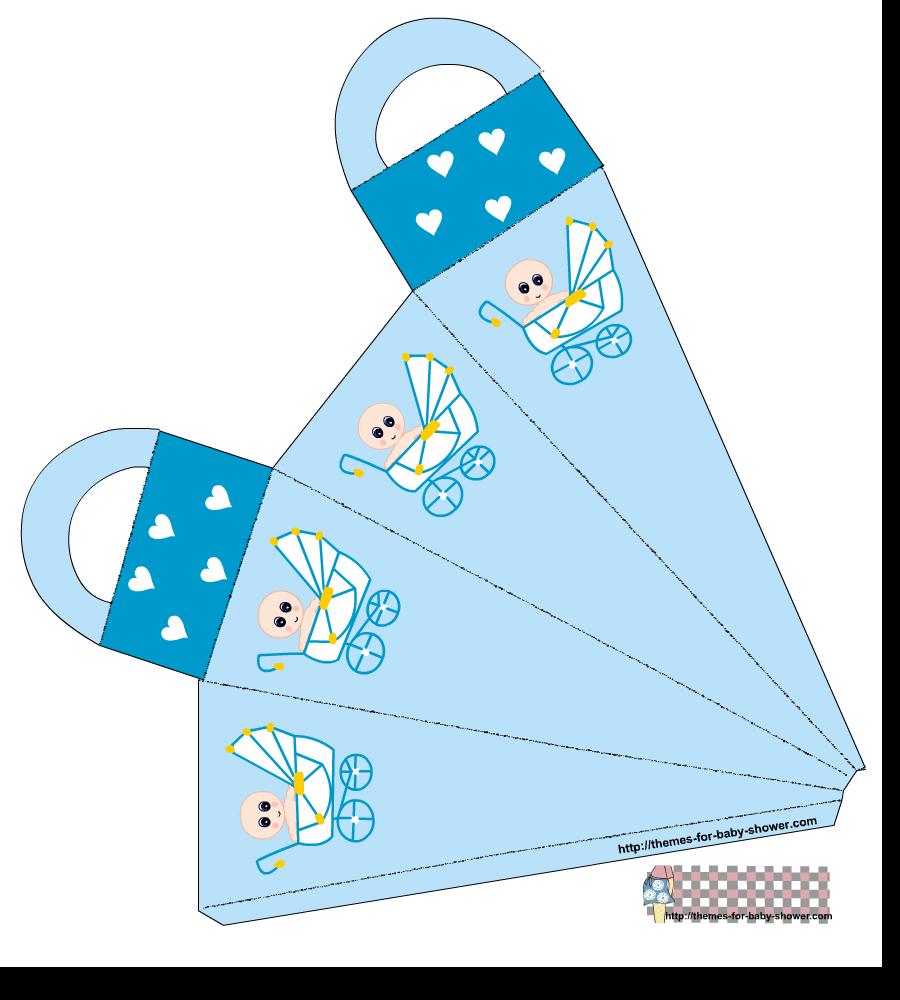 Caja Zanahoria para Imprimir Gratis de Bebé en Cochecito.
