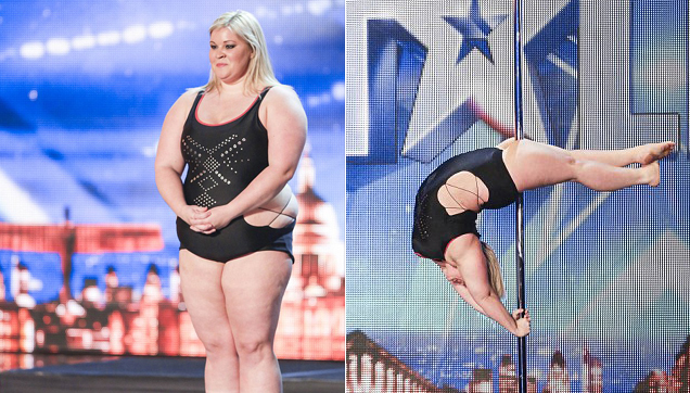 Emma Haslam 27, Married with a daughter - Pole Dancing at Britain Got Talent