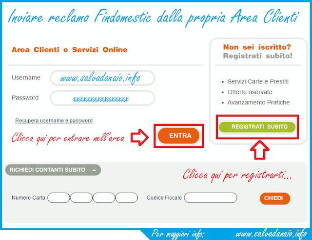 Inviare e-mail reclami Findomestic + fax e telefono