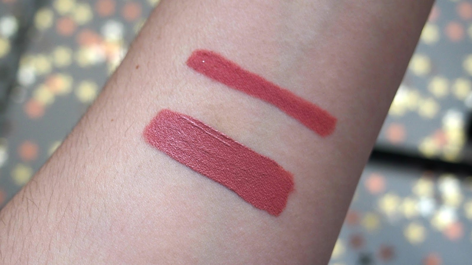 Lip cream swatches