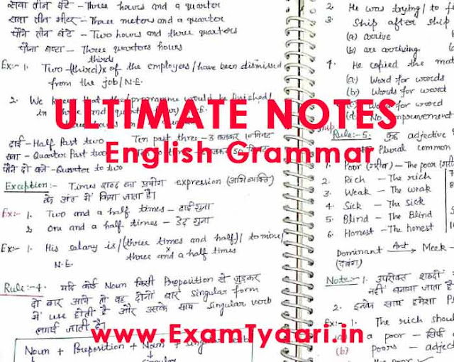 Ultimate English Grammar Handwritten Full Notes [Download PDF] - Exam Tyaari