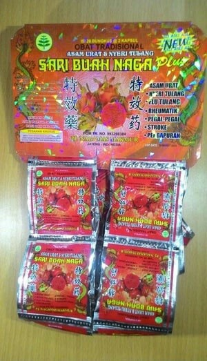 Jual jamu sari buah naga di Surabaya