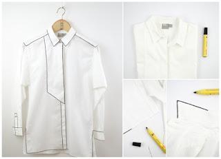 Customizar una camisa blanca y transformarla bricomoda