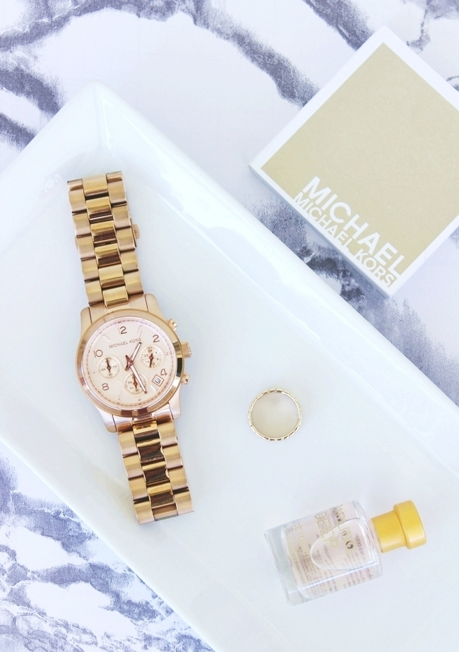Michael Kors Rose Gold Chronograph Watch (MK5128)