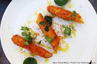 Breaded White Asparagus, Gribiche at Pirouette in Paris