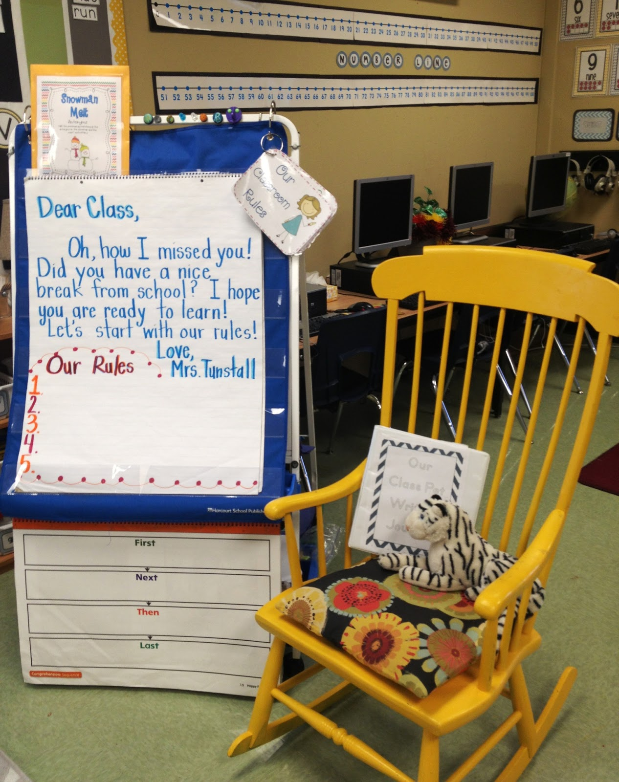 Teacher Rocking Chair Ergonomic Singapore Review Classroom Pictures Ready For January Tunstall S Teaching Tidbits