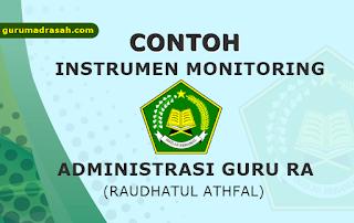 contoh instrumen monitoring administrasi guru ra