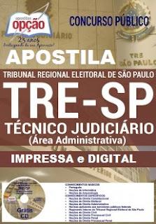 Apostila Concurso TRE - SP Tribunal Regional Eleitoral SP - 2016