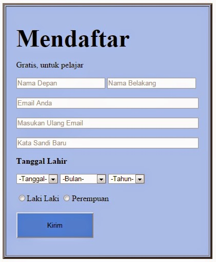 Cara Membuat Form Pendaftaran Dengan HTML Dengan Cepat ...