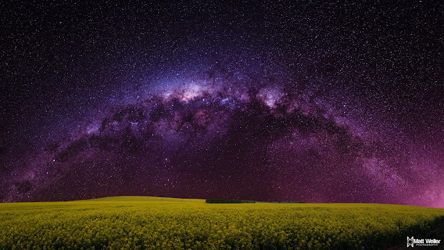 The night scenery of the Milky Way. Starry sky above our heads. Stunning views of nature offered by the planet Earth.