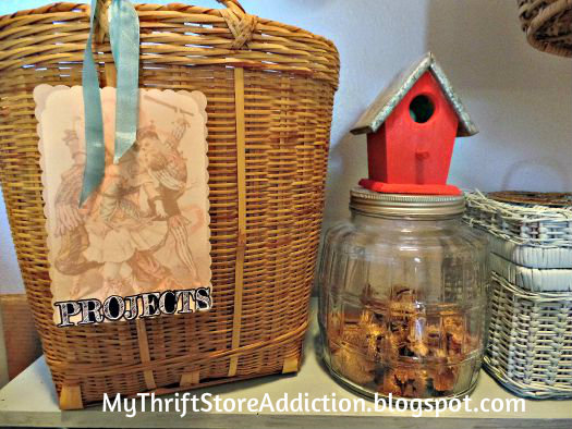 Baskets and creative labels for organization