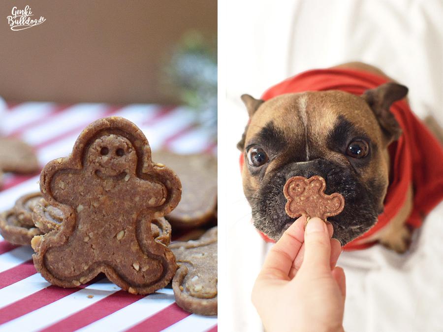 Rezept Lebkuchen Hundekekse Weihnachtsplätzchen für Hunde backen