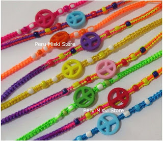 Peace symbol friendship bracelets
