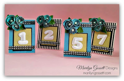 wedding table markers marilyn gossett