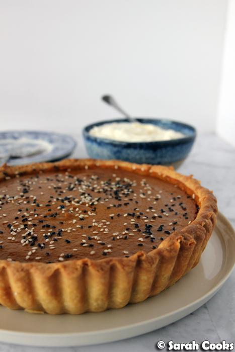 Cardamom-Tahini Pumpkin Pie