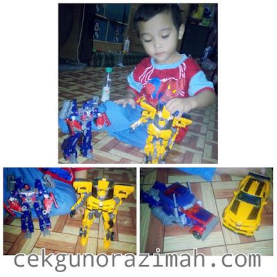 robot transformers, robot murah, bumblebee