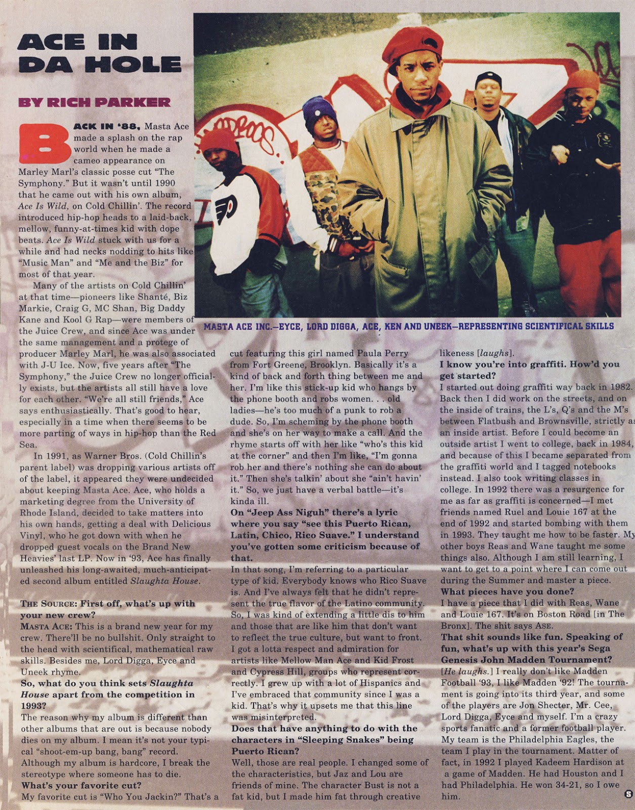 Masta Ace Incorporated Slaughtahouse The Source Magazine Interview June 1993