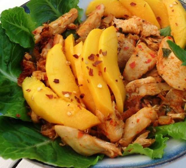 preparare reteta de piept de pui cu mango si curry