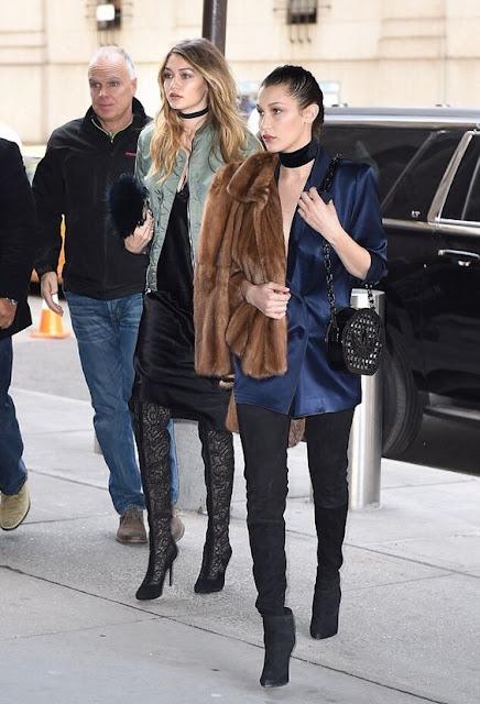 Bella e Gigi Hadid duas irmãs dois estilos street style