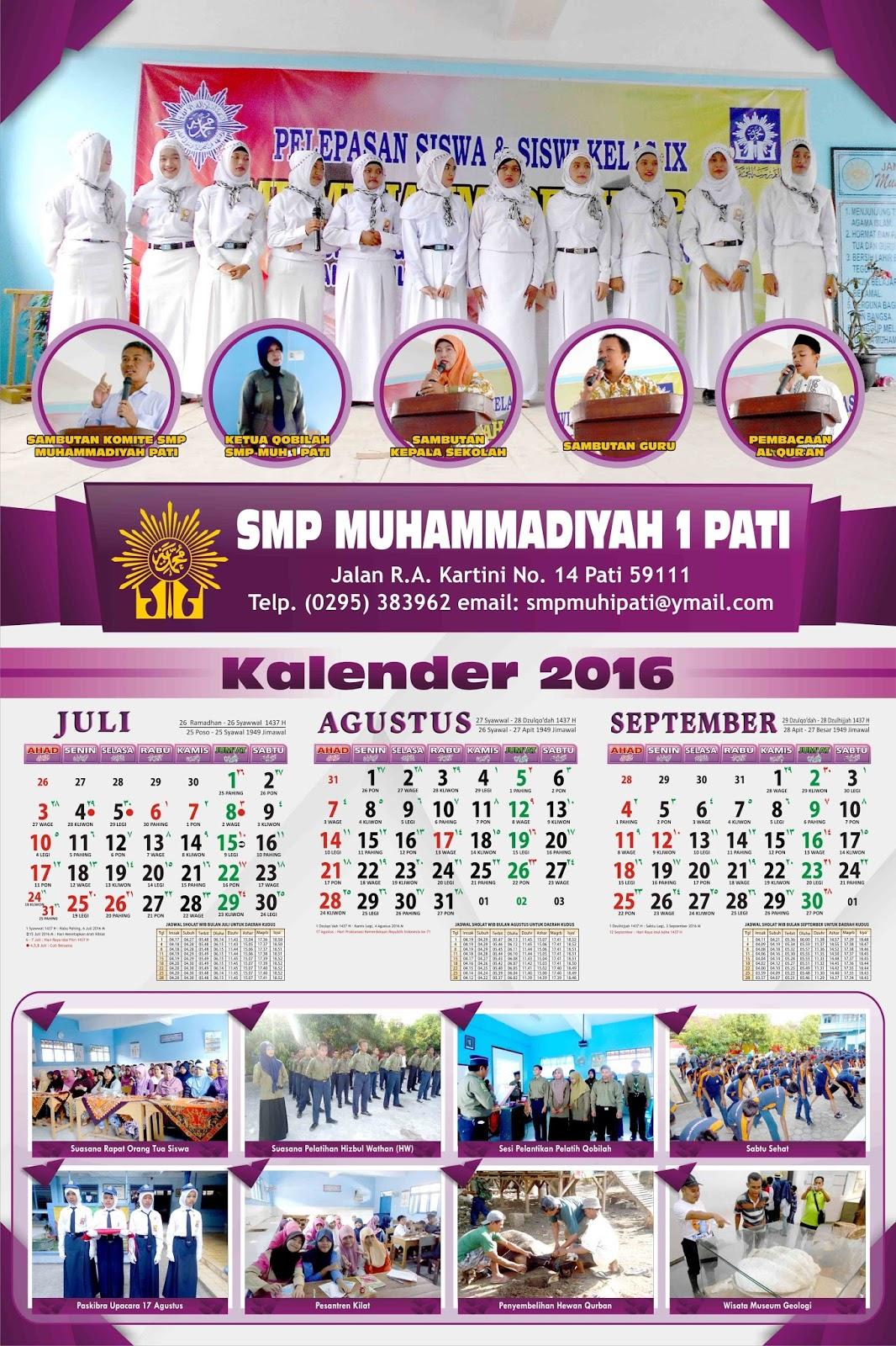 Desain Kalender 2016 part 3 (3 bulan per-lembar ukuran ...