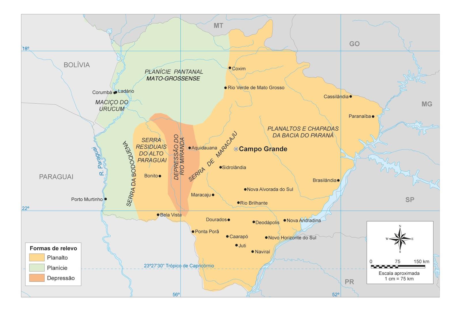 Mapas do Estado do Mato Grosso do Sul