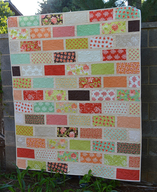 The Wall - A Brick Wall Quilt Free Tutorial designed by Melissa Corry of Happy Quilting Melissa