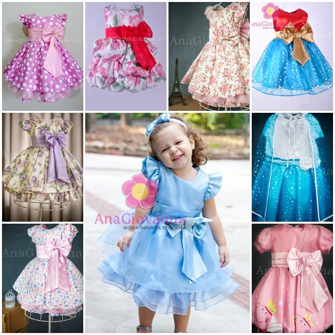 Vestidos infantis Ana Giovanna- modelos lindos para a menininha da sua vida