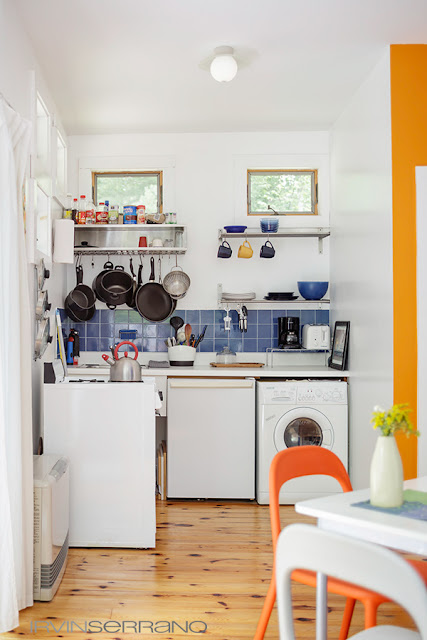 Small kitchen in tiny home