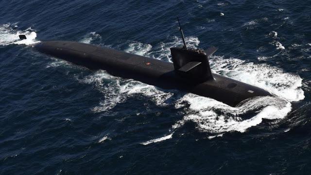 Submarino francés realiza simulación de lanzamiento de misiles
