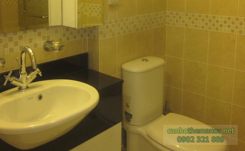 Căn hộ The Manor 38m2 view city cho thuê - phòng tắm