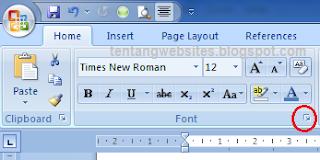 Cara mengubah jenis huruf pada Microsoft word 2007