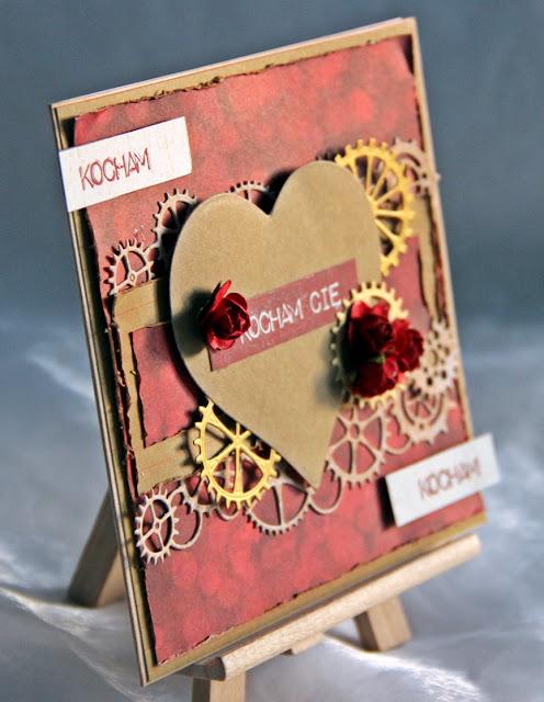 Valentynki, kartka miłosna, kartka z sercem, kartka dla mężczyzny