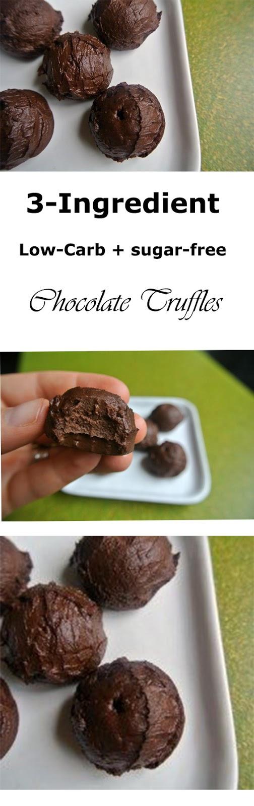 3-Ingredient Low-Carb Chocolate Truffles