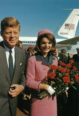 Arrival of President Kennedy and his wife Jacqueline in Dallas, Texas on November 22, 1963