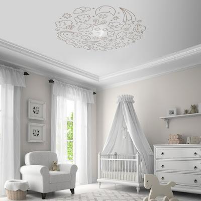 Vinilo infantil para techos con nubes ref. RS021