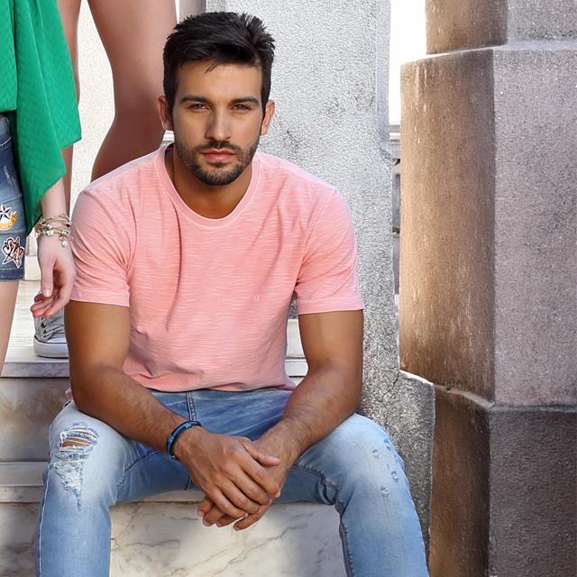 Camiseta Rosa Masculina Look
