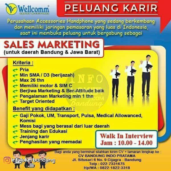 Lowongan Kerja CV. Bandung Indo Pratama ( Wellcomm ) Agustus 2018