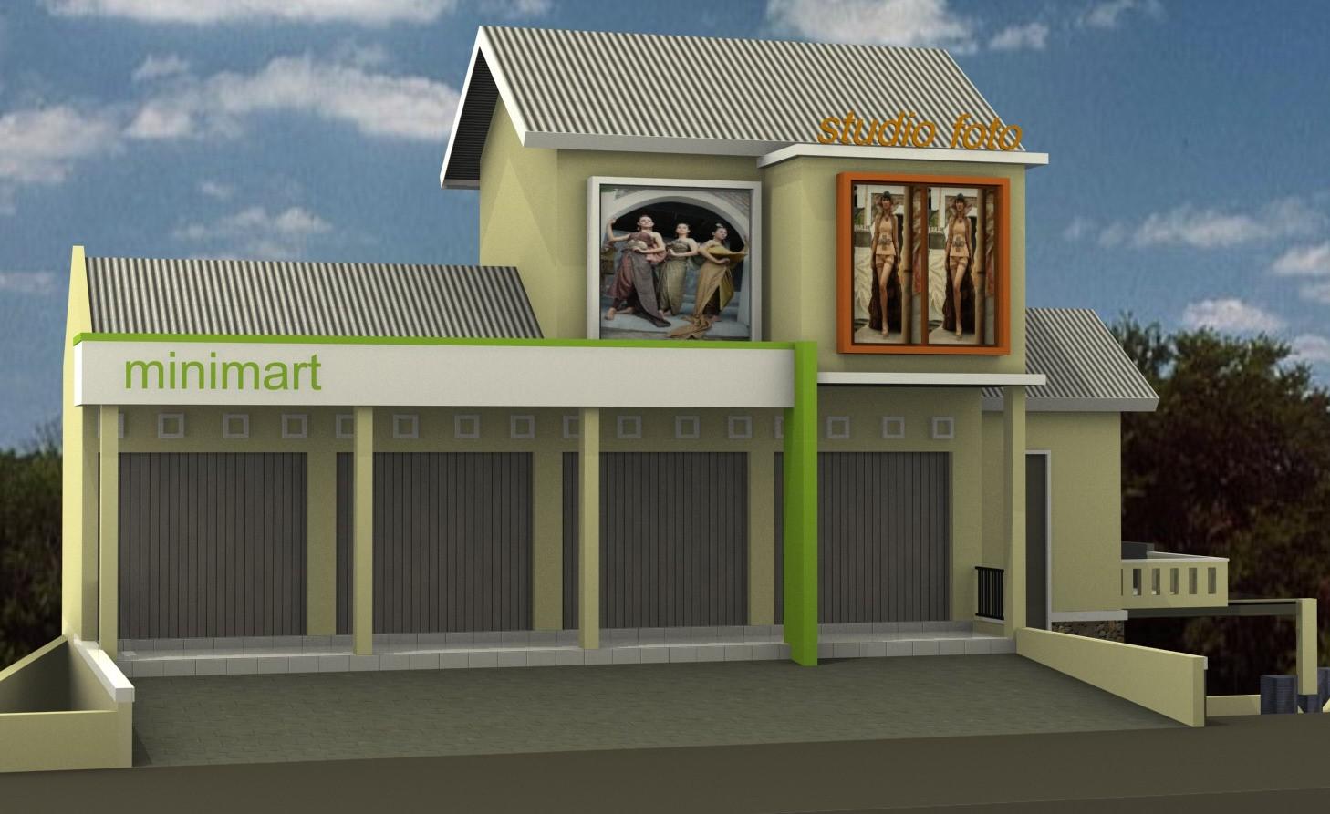 gambar denah rumah dan toko 1