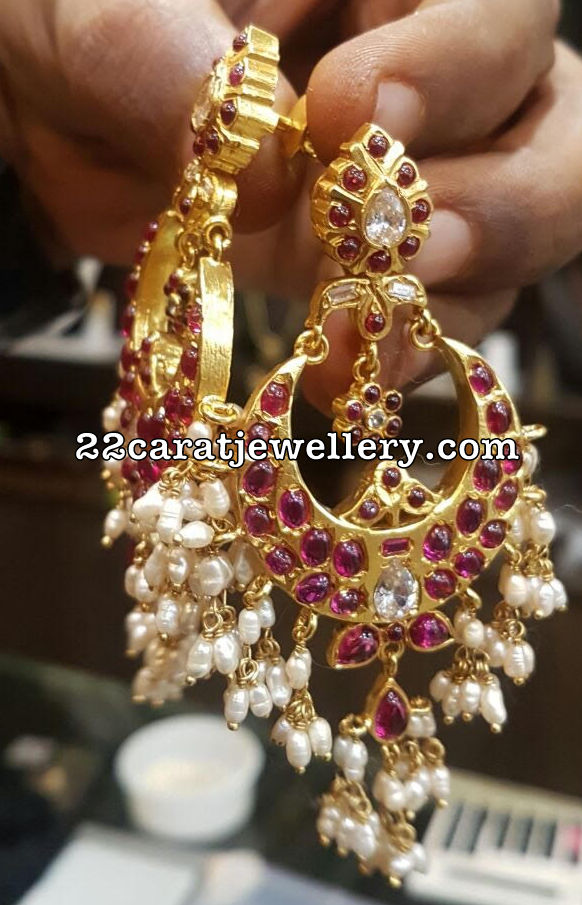 Silver Metal Latest Chandbalis Jhumkas Jewellery Designs
