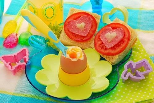 ide makanan lucu untuk anak susah makan ~ telur dan roti