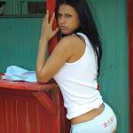 Andrea Rincon, Selena Spice Galeria 33: Gorra Azul, Cachetero Azul Foto 60
