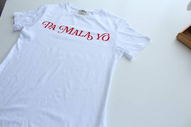 Camiseta pa mala yo personalizada