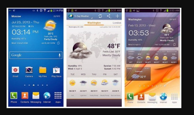 Widget Prakiraan Cuaca - Android Weather And Clock Widget