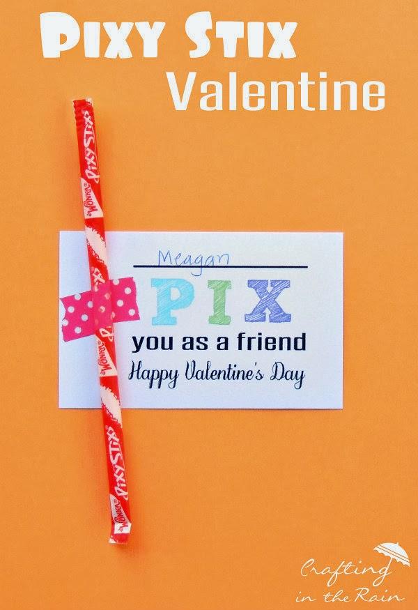 Pixy Stix Valetine printable