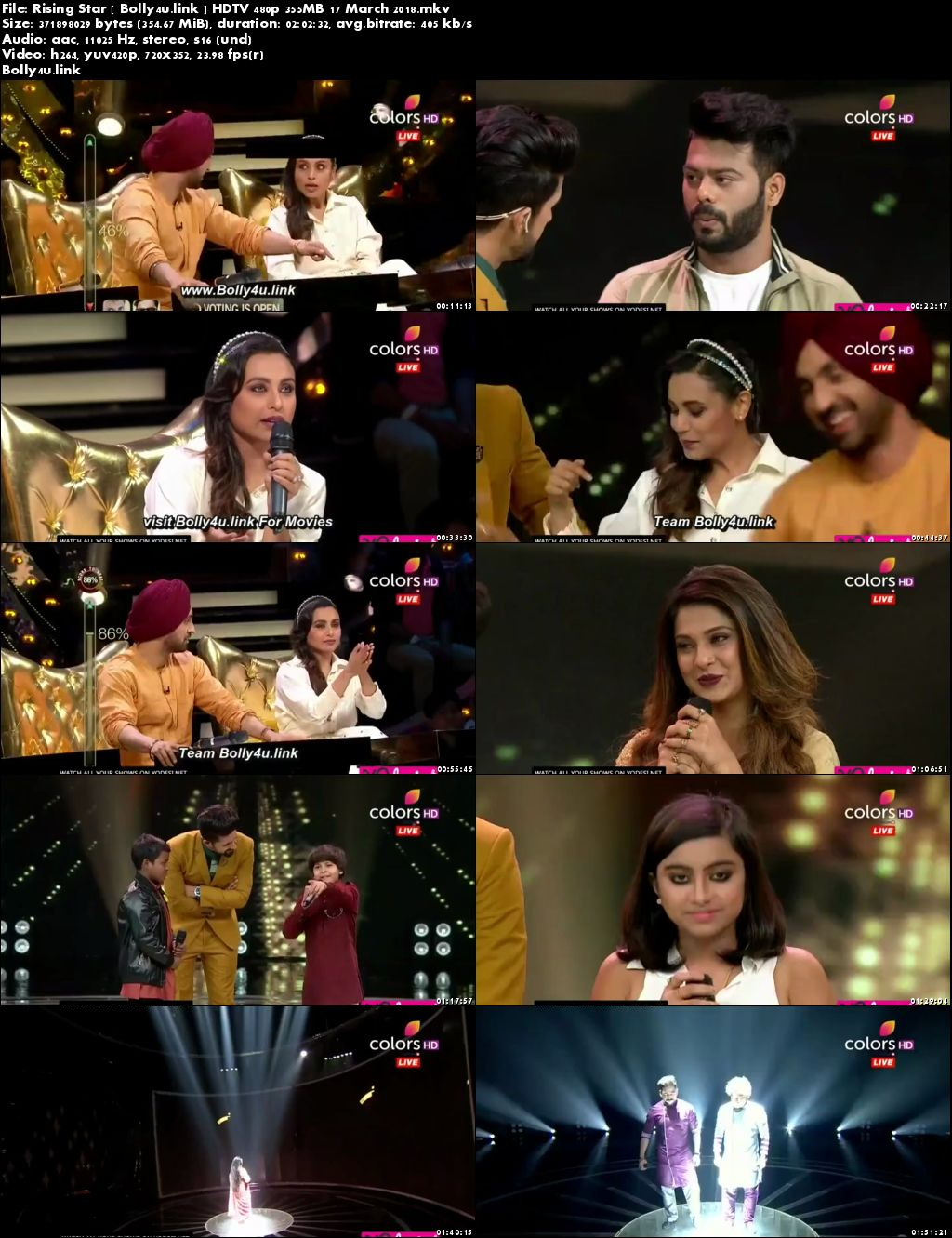 Rising Star HDTV 480p 350MB 17 March 2018 Download
