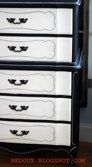 I Sprayed The Original Hardware In Flat Black And Voila We Are Oh So Chic Ready For Service Either As A Dresser Or Even Whimsical Piece
