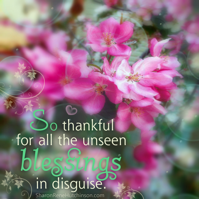 So thankful for all the unseen blessings in disguise -Inspirational Positive Quotes with Images