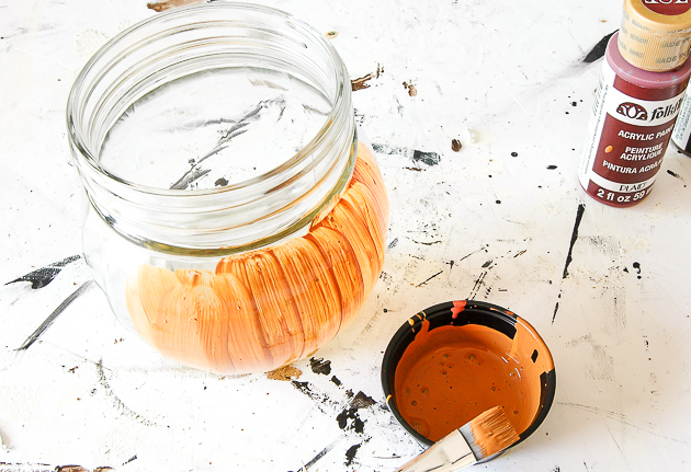 Painting Dollar Tree storage jars